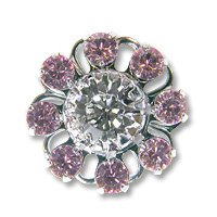 Swarovski Filigree 60870 Rhodium Plated Light Amethyst/Crystal