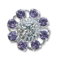 Swarovski Filigree 60870 Rhodium Plated Tanzanite/Crystal