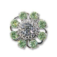 Swarovski Filigree 60870 Rhodium Plated Chrysolite/Crystal