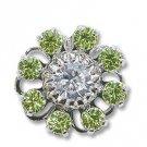 Swarovski Filigree 60870 Rhodium Plated Jonquil/Crystal