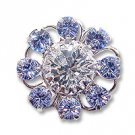 Swarovski Filigree 60870 Rhodium Plated Light Sapphire/Crystal