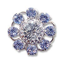 Swarovski Filigree 60870 Rhodium Plated Light Sapphire/Crystal