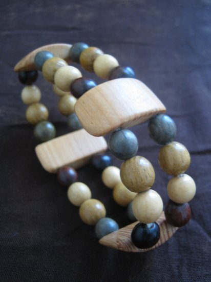 Hand Carved Wooden Bracelet, Jewelry, Beaded bracelet