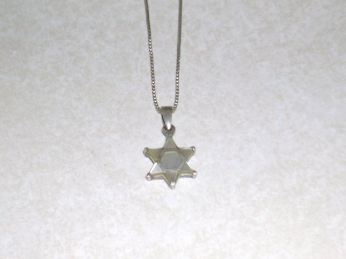 Mother of Pearl Star of David, Jewish Star, Semi-Precious Stone Jewelry