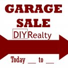 6 Reusable GARAGE SALE Signs w/ Wire Stands
