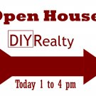 6 Reusable Open House Signs w/ Wire Stands