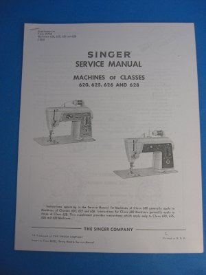 Singer 620, 625, 626 and 628 Sewing Machine Service Manual