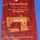 Singer  ZIG-ZAG Fashion Mate Instructions Manual MODEL 237