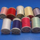 9 Thread Spools 100% Polyester Different Colors