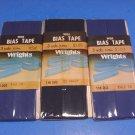 WRIGHT'S Fine Percale Bias Fold Tape Navy Blue VINTAGE USA