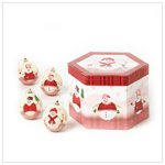 PERFECTLY PLAID DECOUPAGE ORNAMENTS