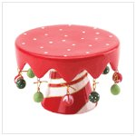 STRIPED BASE CHRISTMAS MINI PEDESTAL