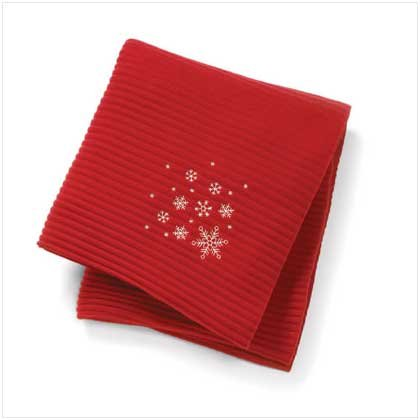 SNOWFLAKE DESIGN ACCORDION THROW