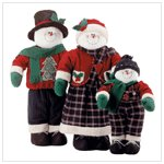DECORATIVE SNOWMAN FAMILY (price reduced)