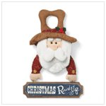 CHRISTMAS ROUND-UP DOOR HANGER
