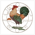 CROWING ROOSTER SUN-CATCHER