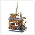NEW RIVERBOAT QUEEN BIRDHOUSE