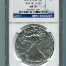 2012 AMERICAN SILVER EAGLE NGC MS69 FIRST RELEASE