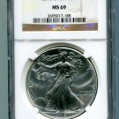 2013 AMERICAN SILVER EAGLE NGC MS 69 BROWN / GOLD LABEL