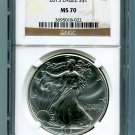 2013 AMERICAN SILVER EAGLE NGC MS 70 BROWN / GOLD LABEL