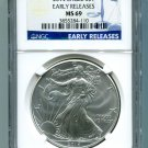 2014 AMERICAN SILVER EAGLE NGC MS 69 EARLY RELEASE