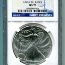 2015 AMERICAN SILVER EAGLE NGC MS 70 EARLY RELEASE