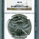 2016 AMERICAN SILVER EAGLE NGC MS 70 CLASSIC BROWN LABEL