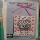 Heart Stealer Kit Counted Cross Stitch Blessed Are The Pure In Heart DMC Floss