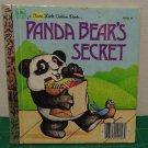 A First Little Golden Book - Panda Bear's Secret - 1982 Vintage Picture Book