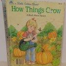 Vintage Little Golden Book How Things Grow Hardback