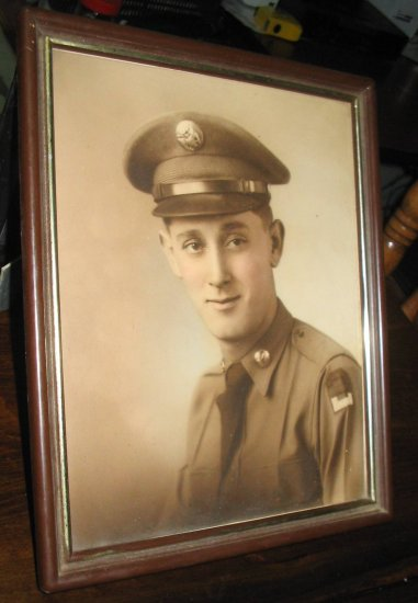 Framed photo WW2 2nd Army Soldier