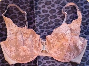 Victoria�s Secret Unlined Lace Very Sexy Dark Taupe Bra 34D Like-New