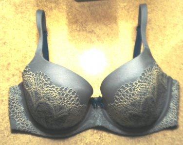 Like-New Victoria�s Secret Blue Body by Victoria Lined Demi Demi-Buste Double � 34DD