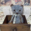 Mini mohair bear Jacob Vintage Style teddy E Pattern From SReetzBears