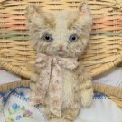 Tabby cat E Pattern vintage style mini mohair kitty Kibbles by SReetzBears