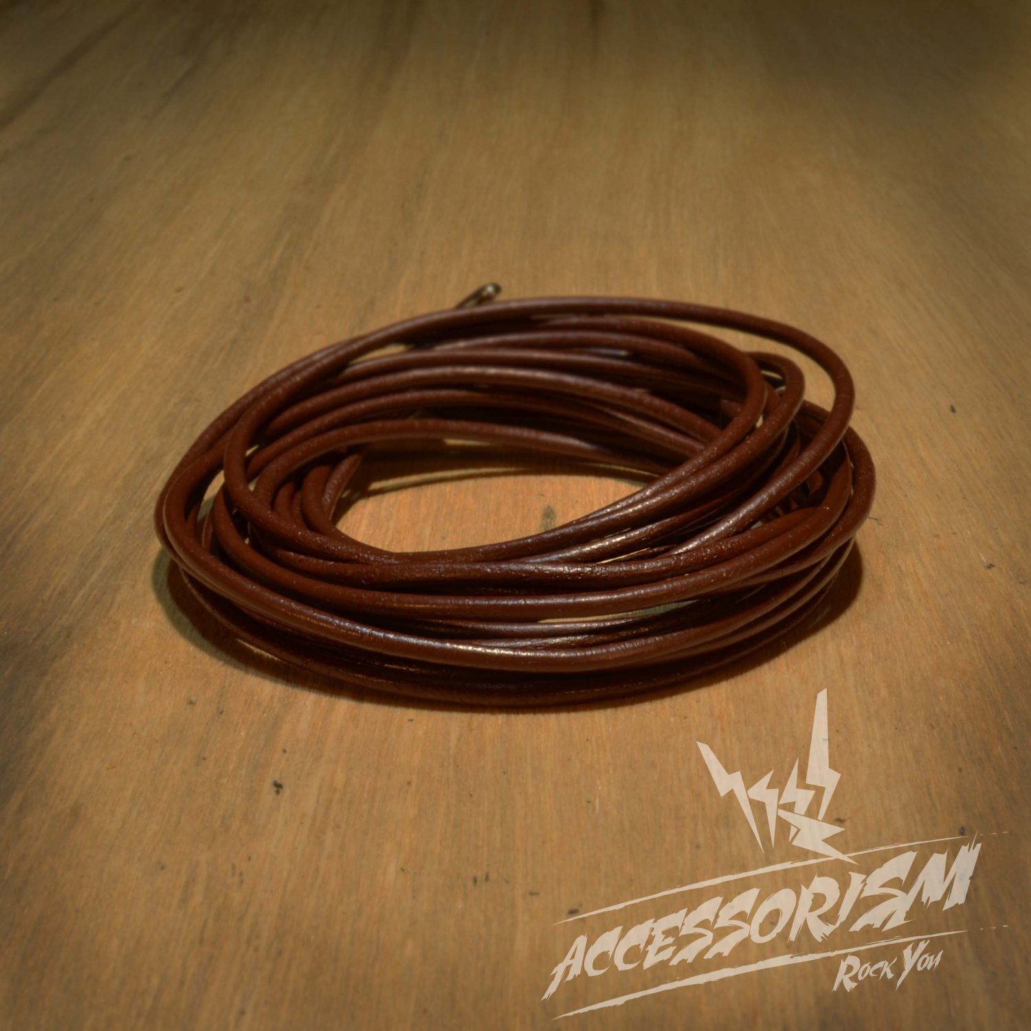 Free Shipping Two Circle Multi Brown Leather Bracelet (B624S)