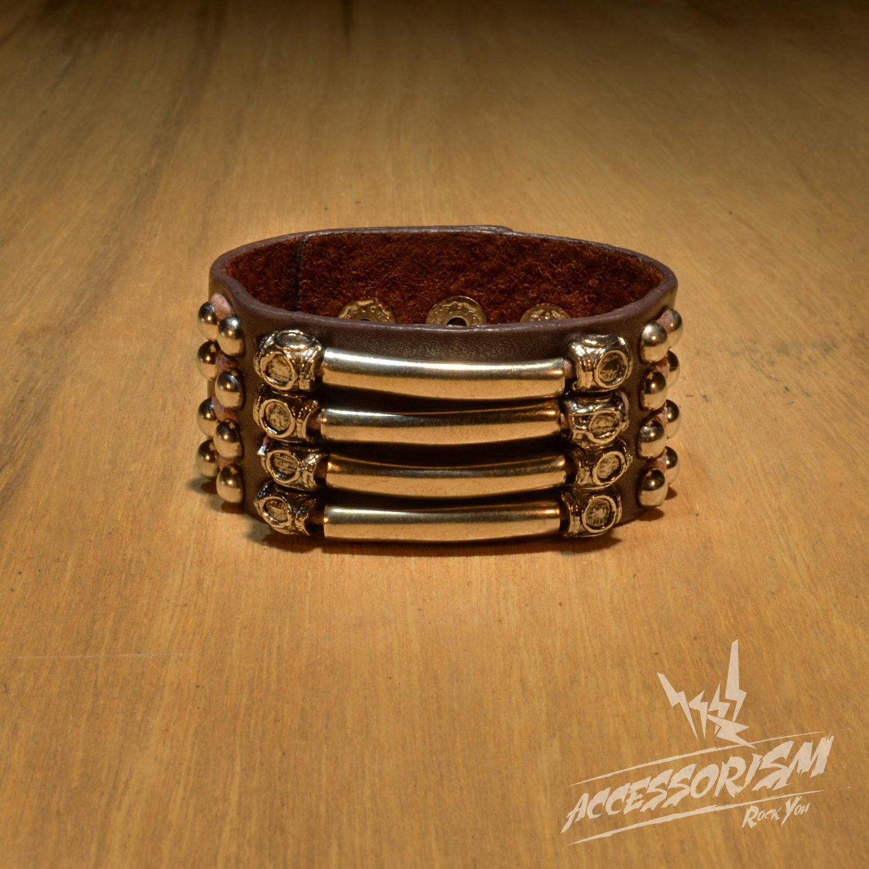 Free Shipping Gothic Metal Cuff Wristband Bracelet Rock Punk (B638R)
