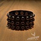 Free Shipping Metal Rings Gothic Bracelet Wristband Cuff Goth (B626R)