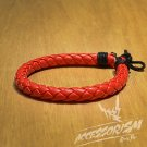 Free Shipping Red Cross Synthetic Leather With Strings Bracelet (B636S)