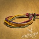 Free Shipping Light Brown Leather with Mutli Color Bracelet (B670S)
