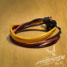 Free Shipping Light Brown Leather with Mutli Color Bracelet (B671S)
