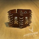 Free Shipping Gothic Punk Leather Stud Wristband Cuff Skull (B625R)
