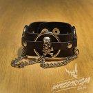 Free Shipping Gothic Skulls Cuff Wristband Bracelet Rock Punk (B633R)