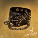 Free Shipping Hand Gothic Bracelet Wrist Band Goth Punk Emo (B636R)