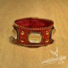 Free Shipping Gothic Punk Leather Stud Wristband Cuff (B665R)