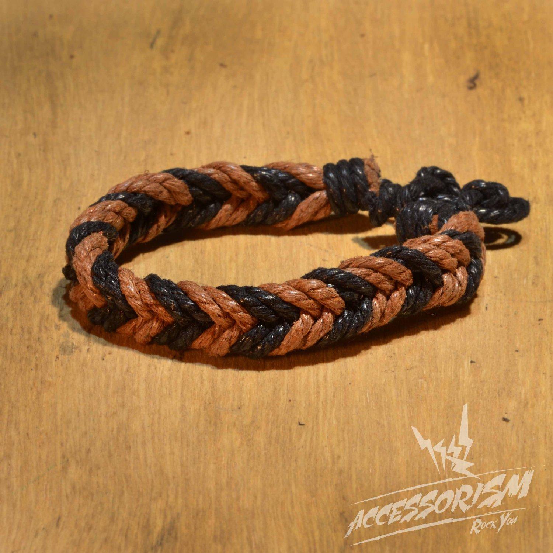 Free Shipping Light Brown & Black String Bracelet (B695S)