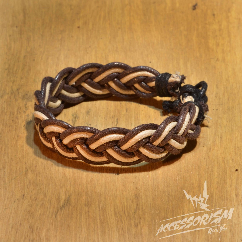 Free Shipping Brown & White String Bracelet (B693S)