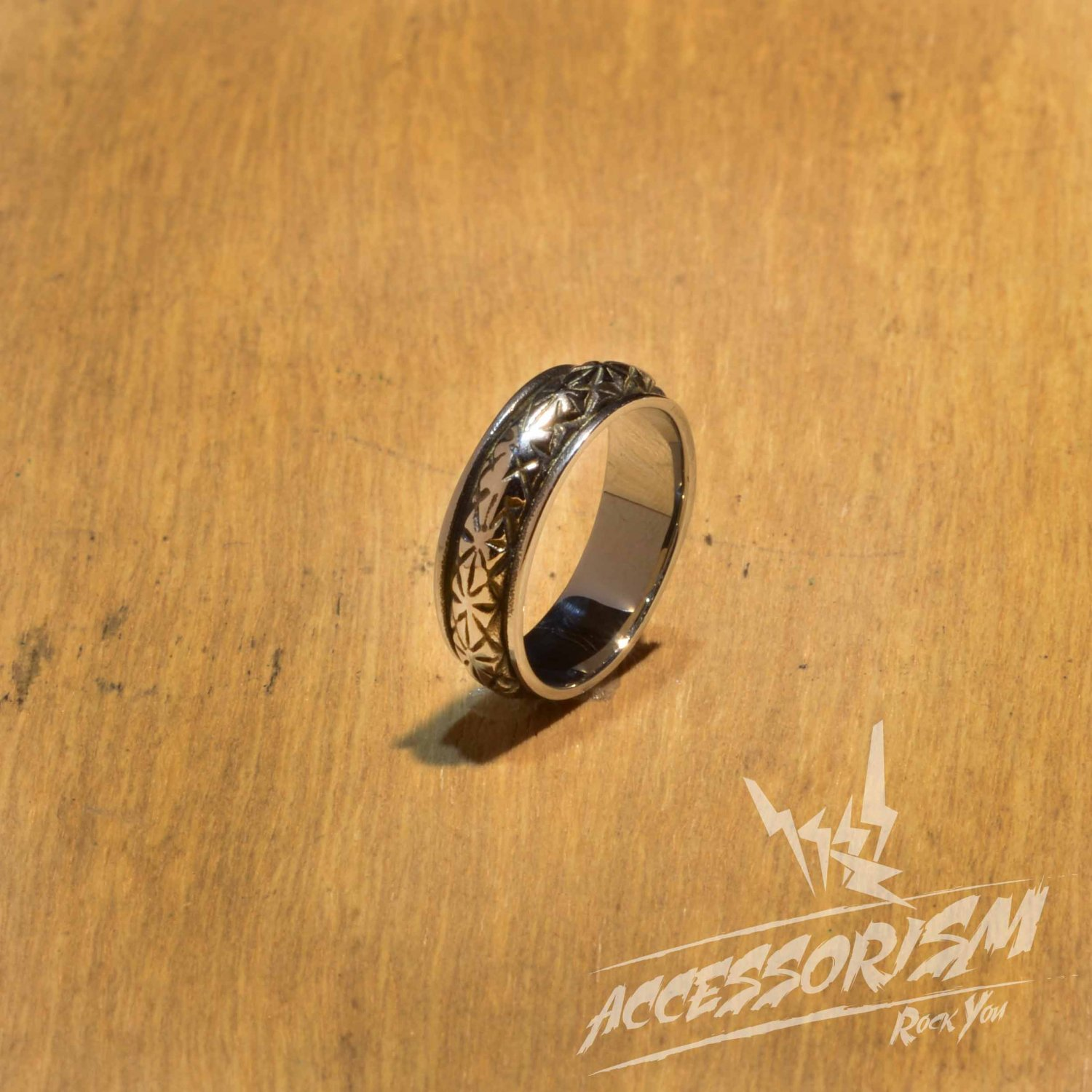 Free Shipping Steel Gothic Pattern Ring (R624R)