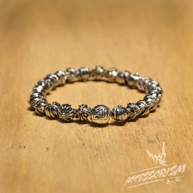 Free Shipping Steel Silver Bead Bracelet (B705S)