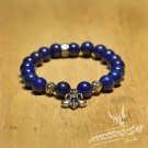 Free Shipping Deep Blue Bead Bracelet with Artichoke Deco (B708S)